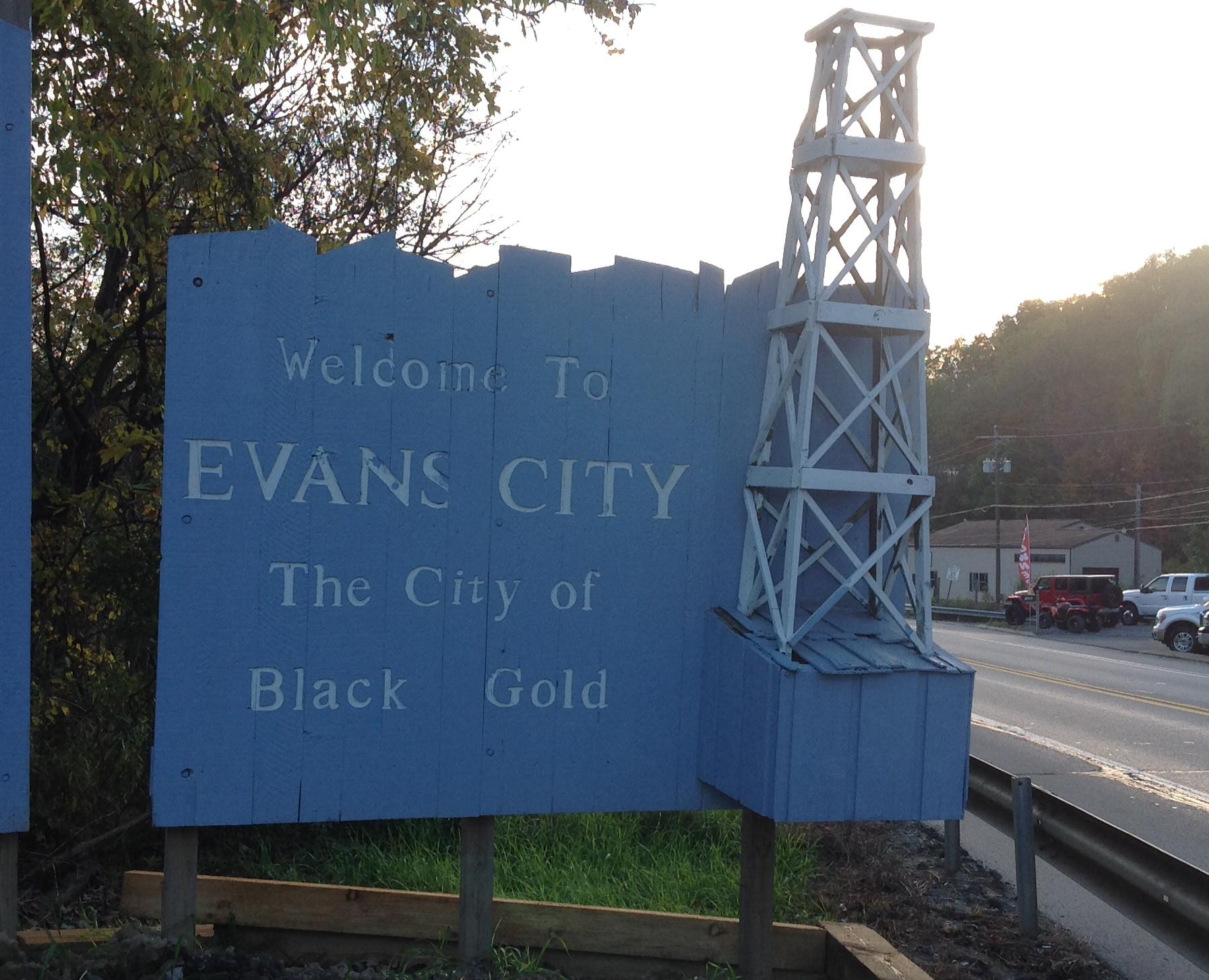 Evans City Sign